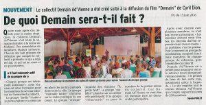 Article Dauphiné Libéré juin 2016