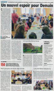 Article presse locale 15 mars 2016